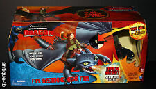 HOW TO TRAIN YOUR DRAGON FIRE BREATHING NIGHT FURY PLAY SET NEW 2010 RARE HICCUP