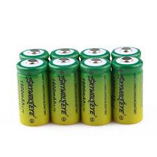 8pcs SKYWOLFEYE 16340 CR123A LR123A 3.7V 1800mAh Li-Ion Rechargeable Battery USA