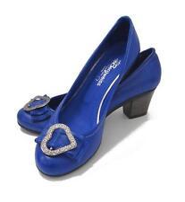 Schuhe Trachtenschuhe 41 blau royalblau NEU Leder Dirndlschuhe Trachten Pumps