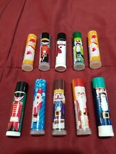 LOT OF 10 - AVON HOLIDAY KIDS FLAVORED LIP BALMS - SEALED - FREE SHIPPING