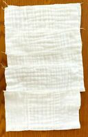 Lot Of 5 Vintage 1980s Baby Cotton Cloth Diapers Burp Pre-Folded