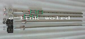 2 set HGR20-2900mm Linear rail&Anti-backlashed RM2005-2900mm Ballscrew&BF15/BK15