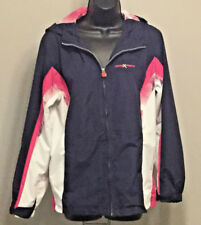 ZERO XPOSUR Big Girl's Size XL (16) Pink/Navy/White Lined Polyester Stormer Jack