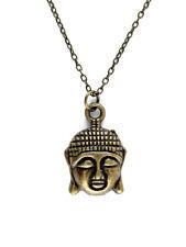 COLLIER PENDENTIF Symbole Bouddhiste tête de Bouddha - Necklace Head Buddha