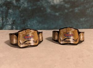 2 Custom Tag Team Belts WWE WWF LJN action figures not included