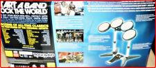 XBOX 360 ROCKBAND DRUMS SET + OVP + ROCKBAND  GAME + EXTRA GAME*