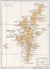 1923 map of Scotland: Shetland Islands ready-mounted antique print SUPERB