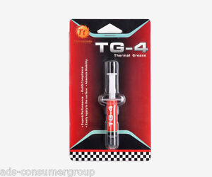 2 packs Thermaltake CL-O001-GROSGM-A TG4 High Performance Thermal Grease Syringe
