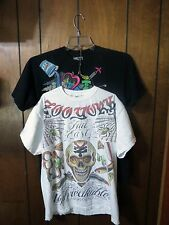 2 Zoo York Mens Skate T Shirts Sz M True East Unbreakable Skull + NYC Graffiti