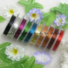 Pack Of 10 Colors 28 Gauge Artistic Wire Diameter 90 Meters For Jewelry Making