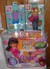 #8682 NRFB Mattel Dora's Explorer Girls Dora Links Doll & 2 Fashions
