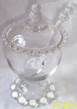 CANDLEWICK CRYSTAL #400/8918 FOOTED MARMALADE & COVER w/ORIGINAL SPOON! !