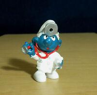 Smurfs 20037 Doctor Smurf Physician Vintage Figure PVC Toy Figurine Lot 1980s