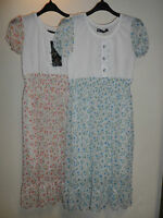 WOMANS LADIES LIGHTWEIGHT PRETTY FLORAL FULLY LINED SUMMER DRESS SIZE UK10/12