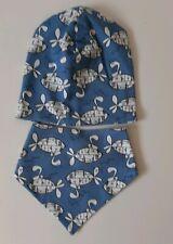 Baby Beanie Mütze 34 36 38 40 42 44 46 48 50 52 54 Blau Senf Löwen handmade