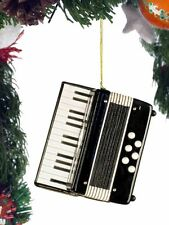 Miniature Black Accordion Ornament with Gift Box 3 Inches OKB