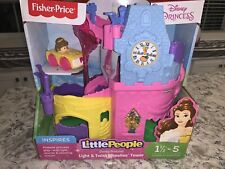 Fisher Price Little People Disney Princess Light & Twist Wheelies Tower w/Belle