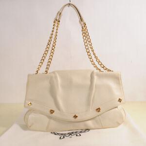 AUTHENTIC MCM Leather Chain Shoulder Bag + Dust Bag