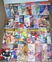 BIG Lot 33 Crochet mags book Annie's Newsletter Pattern Club Hooked On patterns+