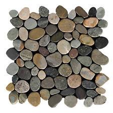 Flusskiesel Naturstein Mosaikfliesen Geschnitten Kos