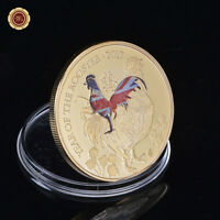 WR 2017 Australia Lunar Year Of The Rooster Elizabeth II Niue 1 Ounce GOLD Coin