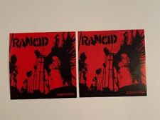 2 Rancid Punk Rare Music Promo Stickers Indestructible Tim Armstrong x2 Nofx