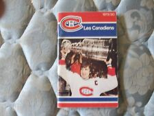1979-80 MONTREAL CANADIENS MEDIA GUIDE Yearbook 1978-79 STANLEY CUP!!  1980 AD