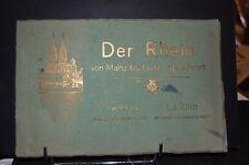 Der Rhin,  le Rhin de Mayence à Duisburg; 19 vues en 16 pages  1890-1900
