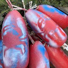 CRAB Design MAINE Lobster Trap BUOY Nautical Spongex Pot Net FLOAT Stick~Rope