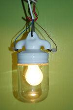 Industrie Design Werkstatt Porzellan vintage Glaskolben Lampe 1465  E27