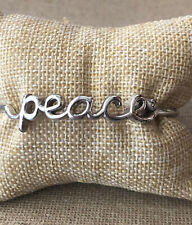 Brighton Love Child PEACE Script Bangle Bracelet