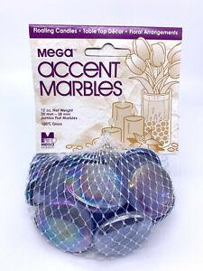 "Mega Marbles 1.18 - 1.5""  Large Round DC Lilac Mosaic Glass Gems 12oz Net Bag"