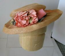 Vintage Style Victorian Floral Straw Millinery Hat by Forget Me Not S
