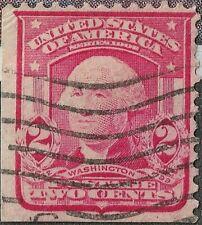 RARE 1903 LB CORNER 319 Red Type 1 Washington 2C US Postage Stamp Cancel NHNG VF