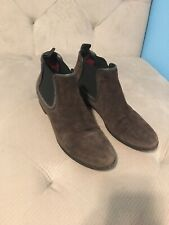 donna carolina chelsea boot ankle boot dark brown with grey trim size 6.5