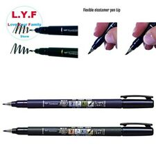 2 Set Soft Hard Tip Fudenosuke Brush Pens for Calligraphy Art Drawings Marker