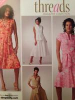 Simplicity Sewing Pattern 3877 0642 Ladies Misses Dress Two Lengths Size 6-14 UC