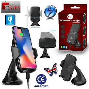 Qi Wireless Charger Car Phone Holder Mount Non-Slip for iPhone XS MAX XR SAJFS™