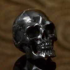 25 mm Human Skull Bead Black Bovine Horn Carving drilled 3.5 mm Handmade