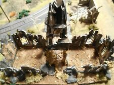 HO Roco Minitanks Custom Detailed WWII Bombed Church Building Weathered #DP195