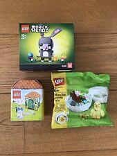 BUNDLE LEGO Easter Gift set (Bunny 40271 + Chicken Skater + Hut) *NEW, Sealed*