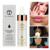 Rose Gold Moisturizing Oil Essential Anti-aging Elixir For Face Skin Make Up~