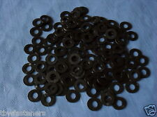 4mm BLACK NYLON PLASTIC WASHER SPACER SUITS M4 and 4mm BOLTS + SCREWS PACK x 10