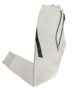 Galaxy By Harvic Men's Tech Fleece Joggers With Zipper Pockets (Grey, S)