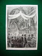 Nel 1885 a Roma - Funerali al Re Alfonso di Spagna nella Chiesa di Monserrato