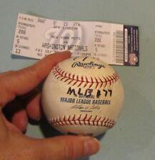 Sept 29 2006 Washington Nationals New York Mets Game Used Baseball Umpire Signed