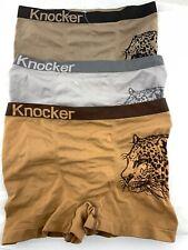 3 Mens Microfiber Modern Boxer Brief Underwear Seamless Compression 1 Sz Cheetah