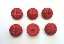 8 Faux Imitation Leather Football Outerwear Dome Sew Buttons Dark Brown 23mm G36