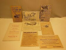 8 ANTIQUE ADVERTISING AGRICULTURE MACHINERY TRADE CARDS DEERE, BUCKEYE, CLARK