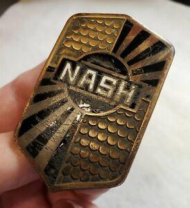 Original NASH Shield Enamel Radiator Badge Emblem 1928-31 Robbins Co.